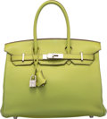 Luxury Accessories:Bags, Hermes 30cm Vert Anis Swift Leather Birkin Bag with PalladiumHardware. K Square, 2007. Very Good to ExcellentConditi...