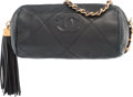 "Luxury Accessories:Bags, Chanel Black Quilted Lambskin Leather Shoulder Bag. GoodCondition. 7"" Width x 4"" Height x 2.5"" Depth. ..."