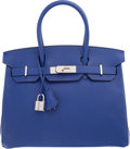 Luxury Accessories:Bags, Hermes 30cm Blue Electric Epsom Leather Birkin Bag with PalladiumHardware. R Square, 2014. Excellent Condition.1...