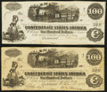 Confederate Notes:1862 Issues, T40 $100 1862 PF-1 Cr. 298;. T40 $100 1862 PF-20 Cr. 308.. ...(Total: 2 notes)