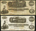 Confederate Notes:1862 Issues, T39 $100 1862 PF-2;. T40 $100 1862 PF-1 Cr 298. . ... (Total: 2notes)