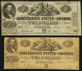 Confederate Notes:1862 Issues, CT42 / 334 Counterfeit $2 1862;. T42 $2 1862 PF-3 Cr. 336.. ...(Total: 2 notes)