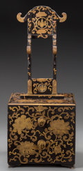 Asian:Japanese, A Japanese Lacquered Mirror Stand, Meiji Period. 25-1/2 inches high(64.8 cm). ...