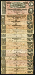 Confederate Notes:1864 Issues, T68 $10 1864. Seventeen Examples.. ... (Total: 17 notes)