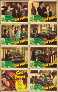 "Movie Posters:Horror, Cat People (RKO, 1942). Lobby Card Set of 8 (11"" X 14"").. ... (Total: 8 Items)"