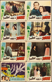 """I Walked with a Zombie (RKO, 1943). Lobby Card Set of 8 (11"""" X 14""""). ... (Total: 8 Items)"""