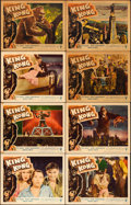 "Movie Posters:Horror, King Kong (RKO, R-1956). Lobby Card Set of 8 (11"" X 14"").. ...(Total: 8 Items)"