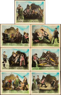 "Movie Posters:Swashbuckler, The Black Pirate (United Artists, 1926). Lobby Cards (7) (11"" X14"").. ... (Total: 7 Items)"