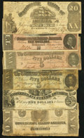 Confederate Notes:Group Lots, Half Dozen Confederate Types.. ... (Total: 6 notes)