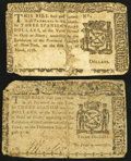 Colonial Notes:New York, New York March 5, 1776 $3 Good.. New York August 13, 1776 $3 VeryGood.. ... (Total: 2 notes)