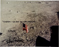 Autographs:Celebrities, Gene Kranz Signed Apollo 11 Lunar Surface Color Photo....