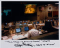 Autographs:Celebrities, Gene Kranz Signed Apollo 13 Mission Control Color Photo withQuote....