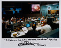 Autographs:Celebrities, Gene Kranz Signed Apollo 11 Mission Control Color Photo withQuote....