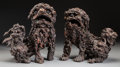 Asian:Chinese, An Unusual Pair of Chinese Rootwood Fu Dogs, Qing Dynasty, QianlongPeriod, circa 1736-1795. 11-3/4 inches high (29.8 cm) (t... (Total:2 Items)