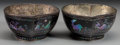 Asian:Chinese, A Pair of Chinese Lac Burgaute Peach-Form Libation Cups, QingDynasy, Kangxi Period, circa 1654-1722. 1-7/8 h x 3-5/8 w x 3-...(Total: 2 Items)