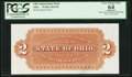 Obsoletes By State:Ohio, (Unknown), OH - Ohio Independent Bank $2 Back Proof Wolka 2042-02....