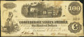 Confederate Notes:1862 Issues, J.H. Childrey Advertising Note T40 $100 1862.. ...
