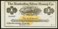 Obsoletes By State:Nevada, Austin, NV- Manhattan Silver Mining Co. $1 187_ Remainder. ...