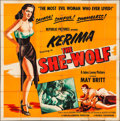 """Movie Posters:Crime, The She-Wolf (Republic, 1954). Six Sheet (80"""" X 80""""). Crime.. ..."""