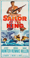 "Movie Posters:War, Sailor of the King (20th Century Fox, 1953). Three Sheet (41"" X79""). War.. ..."