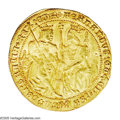 Spain: , Spain: Fernando V and Isabel I gold Double Castellano (4 Ducats) ND(1474-1504), Seville mint, Crowned Fernando and Isabel seated o...