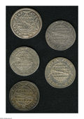 Brazil: , Brazil: Overstruck 960 Reis assortment including: 1814R/960 Reis ofsame type, cleaned XF-AU; 1815R/1811 Lima 8 Reales, XF; 1815R/18...(Total: 5 coins Item)