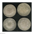 Brazil: , Brazil: Overstruck 960 Reis lot consisting of: 1818R/1800 Lima 8Reales, AU; 1818R/1814 Mo 8 Reales, XF-AU; 1819R/Ferdinand VII 8Re... (Total: 4 coins Item)