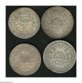 Brazil: , Brazil: Overstruck 960 Reis quartet including: 1819R/Earlierexample of this type, AU; 1819R/1818 Lima 8 Reales, XF-AU;1819R/1799 S... (Total: 4 coins Item)