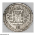 Brazil: , Brazil: 1821R 960 Reis Overstruck on Argentina 1815 8 Soles, veryrare pairing, KM326.1, XF. The sun-face of the host coin showspro...