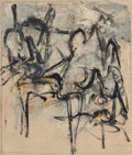 Post-War & Contemporary:Abstract Expressionism, Jack Tworkov (1900-1982). House of Sun, 1952. Oil andcharcoal on canvas. 14-1/8 x 12 inches (35.9 x 30.5 cm). Signedlo...