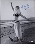 "Autographs:Photos, Barbara Eden I Dream of Jeannie Signed 16x20"" Black & WhitePhoto...."