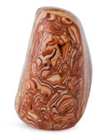 Lapidary Art:Carvings, Wave Dolomite. Mexico. 4.21 x 2.83 x 2.48 inches (10.70 x 7.20 x6.31 cm). ...