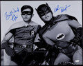 Autographs:Photos, Adam West & Burt Ward Batman Signed 16x20 Black & WhitePhoto. ...