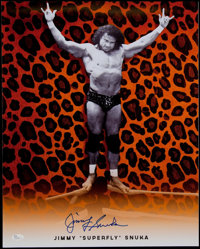"Jimmy ""Superfly"" Snuka Wrestling Legend Signed 16x20"" Photo"