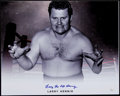 "Non-Sport Cards:Singles (Pre-1950), Larry ""The Axe"" Hennig Wrestling Legend Signed 16x20"" Black &White Photo. ..."