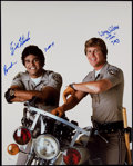"Non-Sport Cards:Singles (Pre-1950), Erik Estrada & Larry Wilcox ""CHIPS"" Signed 16x20"" Photo. ..."