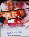"Non-Sport Cards:Singles (Pre-1950), Abdullah The Butcher Wrestling Legend Signed 16x20"" Photo. ..."