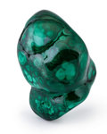 Minerals:Small Cabinet, Polished Malachite. Katanga Copper Crescent. Katanga (Shaba). Democratic Republic of Congo (Zaïre). 2.54 x 1.61 x 1.46 inc...