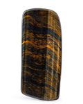 Lapidary Art:Carvings, Tiger's Eye Slab. South Africa. 5.71 x 2.44 x 0.28 inches (14.50x 6.20 x 0.72 cm). ...