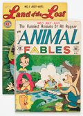 Golden Age (1938-1955):Funny Animal, Animal Fables #1 and Land of the Lost Comics #1 Group (EC,1946).... (Total: 2 Comic Books)