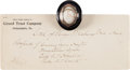 Political:Presidential Relics, George Washington: A Well-documented Lock of His Hair, Housed in a Gold and Onyx Brooch....