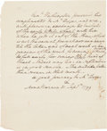 Autographs:U.S. Presidents, George Washington: A Fine 1799 Letter Entirely in His Hand....