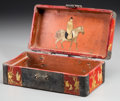 Asian:Chinese, A Chinese Partial Gilt and Lacquered Box, Qing Dynasty, early 19thcentury. 2-3/4 h x 7-3/4 w x 4-1/4 d inches (7.0 x 19.7 x...