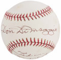 "Autographs:Baseballs, Dom DiMaggio ""Ted We Did It"" Single Signed Baseball...."