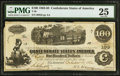 Confederate Notes:1862 Issues, T40 $100 1862 PF-1 Cr. 298. ...