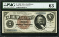 Fr. 263 $5 1886 Silver Certificate PMG Choice Uncirculated 63