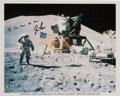 Autographs:Celebrities, Jim Irwin Signed Apollo 15 Lunar Surface Color Photo....