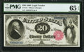 Large Size:Legal Tender Notes, Fr. 141 $20 1880 Legal Tender PMG Gem Uncirculated 65 EPQ.. ...