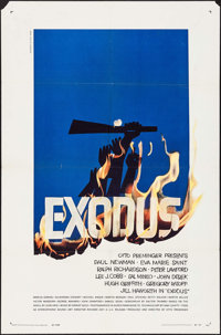 """Exodus & Others Lot (United Artists, 1960). Folded, Overall: Fine/Very Fine. One Sheets (3) (27"""" X 41""""..."""