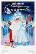 "Movie Posters:Animation, Cinderella (Buena Vista, R-1987). One Sheets (2) (27"" X 41"") SS Regular and Slipper Styles. Animation.. ... (Total: 2 Items)"